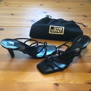 Authentic Gianni Versace Medusa Head Strappy Heel
